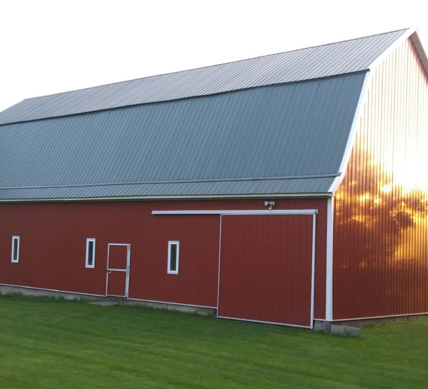 All new steel on barn – Cambridge, MN